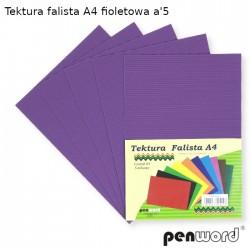 TEKTURA FALISTA A4 FIOLETOWA a'5
