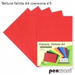 TEKTURA FALISTA A4 CZERWONA a'5