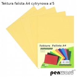 TEKTURA FALISTA A4 CYTRYNOWA a'5
