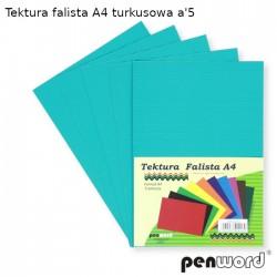 TEKTURA FALISTA A4 TURKUSOWA a'5
