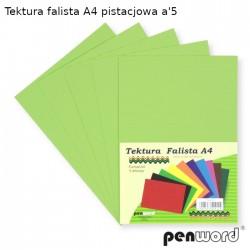 TEKTURA FALISTA A4 PISTACJOWA a'5