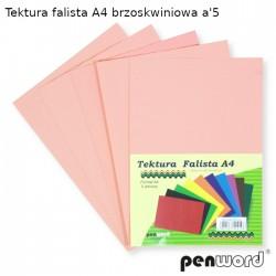 TEKTURA FALISTA A4 BRZOSKWINIOWA a'5
