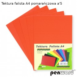 TEKTURA FALISTA A4 POMARAŃCZOWA a'5