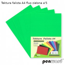 TEKTURA FALISTA A4 FLUO ZIELONA a'5