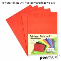 TEKTURA FALISTA A4 FLUO POMARAŃCZOWA a'5