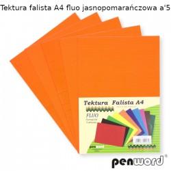 TEKTURA FALISTA A4 FLUO JASNOPOMARAŃCZOWA a'5