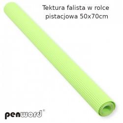 TEKTURA FALISTA W ROLCE PISTACJOWA 50x70cm