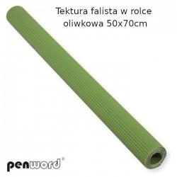 TEKTURA FALISTA W ROLCE OLIWKOWA 50x70cm