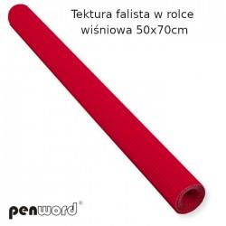 TEKTURA FALISTA W ROLCE WIŚNIOWA 50x70cm