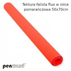 TEKTURA FAL.FLUO W ROLCE POMARAŃCZOWA  50x70cm
