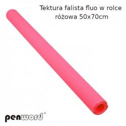 TEKTURA FAL.FLUO W ROLCE RÓŻOWA  50x70cm