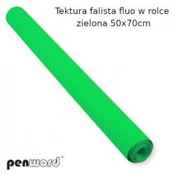 TEKTURA FAL.FLUO W ROLCE ZIELONA   50x70cm