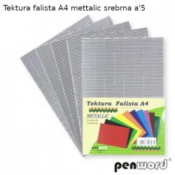 TEKTURA FALISTA A4 METALLIC SREBRNA a'5