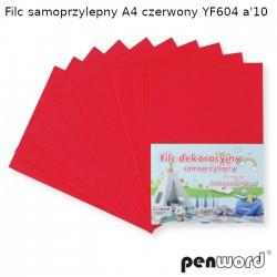 FILC SAMOPRZYLEPNY A4 CZERWONY YF604 a'10