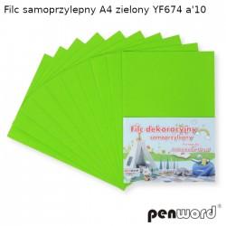 FILC SAMOPRZYLEPNY A4 ZIELONY YF674 a'10