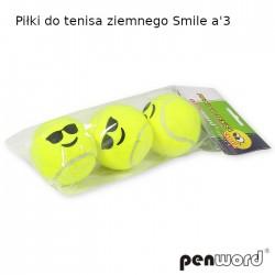 PIŁKI DO TENISA ZIEMNEGO SMILE a'3