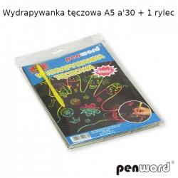 WYDRAPYWANKA TĘCZOWA A5 a'30 + 1 rylec