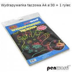 WYDRAPYWANKA TĘCZOWA A4 a'30 + 1 rylec