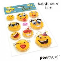 NAKLEJKI SMILE NK-6 ŻELOWE