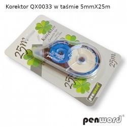 KOREKTOR QX0033 W TAŚMIE 5mmX25m