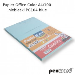 PAPIER OFFICE COLOR A4/100 NIEBIESKI PC104 BLUE