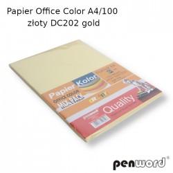 PAPIER OFFICE COLOR A4/100 ZŁOTY DC202  GOLD