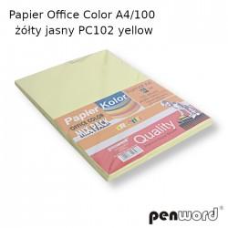 PAPIER OFFICE COLOR A4/100 ŻÓŁTY JASNY  PC101 YELLOW