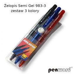 ŻELOPIS SEMI GEL 983-3 ZESTAW 3 KOLORY