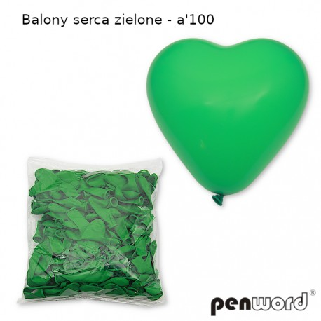 BALONY SERCA ZIELONE - a'100