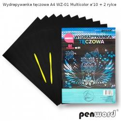 WYDRAPYWANKA TĘCZOWA A4 WZ-01 MULTICOLORa'10 + 2rylce