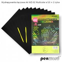 WYDRAPYWANKA TĘCZOWA A4 WZ-02 MULTICOLORa'10 + 2rylce