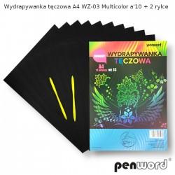 WYDRAPYWANKA TĘCZOWA A4 WZ-03 MULTICOLORa'10 +2rylce