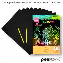 WYDRAPYWANKA TĘCZOWA A4 WZ-04 MULTICOLORa'10 + 2rylce