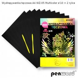 WYDRAPYWANKA TĘCZOWA A4 WZ-05 MULTICOLORa'10 + 2rylce
