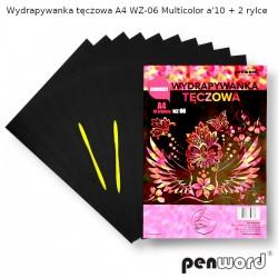 WYDRAPYWANKA TĘCZOWA A4 WZ-06 MULTICOLORa'10 +2rylce