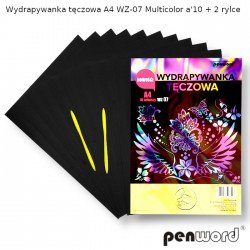 WYDRAPYWANKA TĘCZOWA A4 WZ-07 MULTICOLORa'10 +2rylce