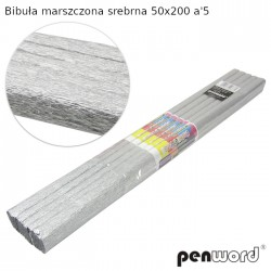 BIBUŁA MARSZCZONA SREBRNA 50x200 a'5