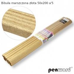 BIBUŁA MARSZCZONA ZŁOTA 50x200 a'5