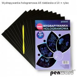 WYDRAPYWANKA HOLOGRAMOWA A5 NIEBIESKA a'10 + rylec