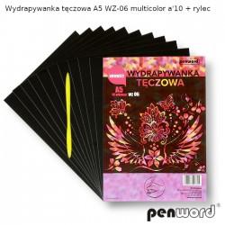 WYDRAPYWANKA TĘCZOWA A5 WZ-06 MULTICOLOR a'10 + rylec