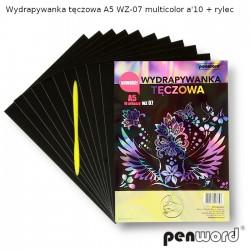 WYDRAPYWANKA TĘCZOWA A5 WZ-07 MULTICOLOR a'10 + rylec