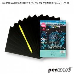WYDRAPYWANKA TĘCZOWA A6 WZ-01 MULTICOLOR a'10 + rylec