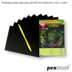 WYDRAPYWANKA TĘCZOWA A6 WZ-02 MULTICOLOR a'10 + rylec