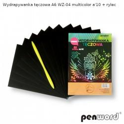 WYDRAPYWANKA TĘCZOWA A6 WZ-04 MULTICOLOR a'10 + rylec
