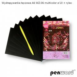 WYDRAPYWANKA TĘCZOWA A6 WZ-06 MULTICOLOR a'10 + rylec